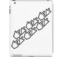computer mouse pointer pc work show hand fingers dart click Control surf electronically online iPad Case/Skin