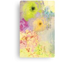 Floral Pattern - Yellow Canvas Print