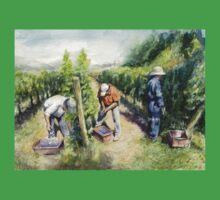 Vineyard Watercolor Painting Baby Tee