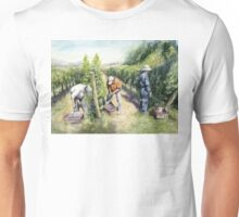 Vineyard Watercolor Painting Unisex T-Shirt