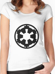 star wars empire logo Women's Fitted Scoop T-Shirt