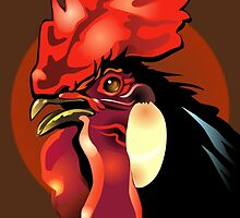 Andalusian Rooster 1 by Patricia Howitt