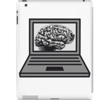 computer laptop notebook pc write thinking screen mobile tablet brain iPad Case/Skin