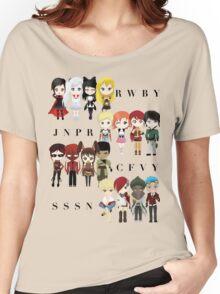 Chibi Team RWBY JNPR CFVY & SSSN Women's Relaxed Fit T-Shirt