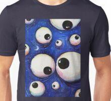 Blue Monster Eyeballs Unisex T-Shirt