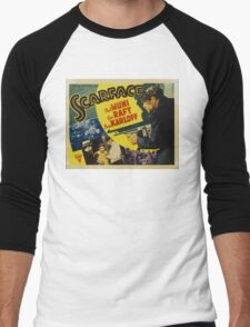 Gangster Movie - Scarface 1932 Men's Baseball ¾ T-Shirt