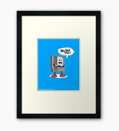 Blow Me NES  Framed Print