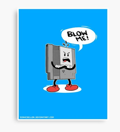 Blow Me NES  Canvas Print