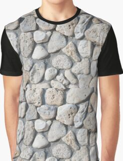 Background of stone wall texture Graphic T-Shirt