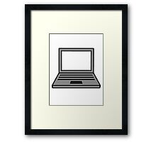 computer laptop notebook pc write screen mobile tablet Framed Print