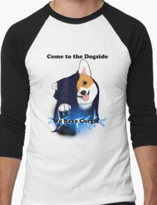 Come to the Dogside we have Corgis! Men's Baseball ¾ T-Shirt