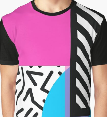 Colorful Retro Memphis Abstract Graphic T-Shirt