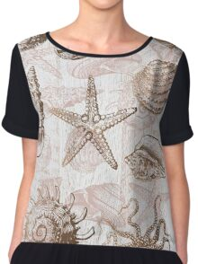 sea shells ocean journey Chiffon Top