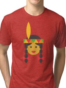 a native american girl Tri-blend T-Shirt