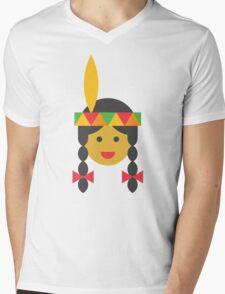 a native american girl Mens V-Neck T-Shirt