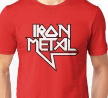 Iron Metal (black white) Unisex T-Shirt