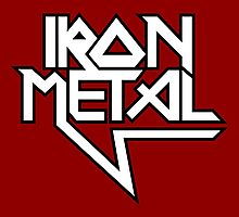 Iron Metal (black white) Photographic Print