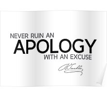 an apology - benjamin franklin Poster