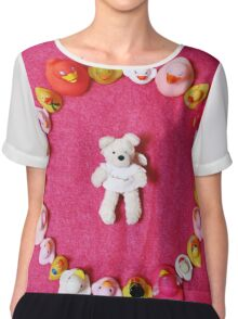 Angel Bear in Duck Blessing Circle, from above Chiffon Top