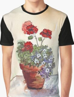 Looking forward to beautiful Geraniums Graphic T-Shirt