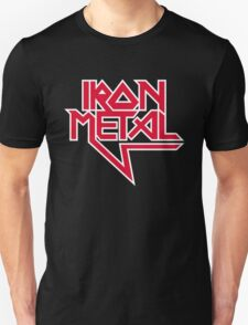 Iron Metal (red white) Unisex T-Shirt