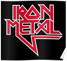 Iron Metal (red white) Poster