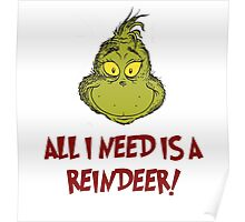 All i need is a reindeer - quote Poster