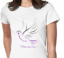 doves cry Womens Fitted T-Shirt