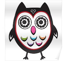 Multi-Coloured Wowl Poster