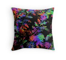 Psychedelic Ferns Throw Pillow