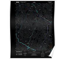 USGS TOPO Map New Jersey NJ Orange 20110412 TM Inverted Poster