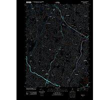 USGS TOPO Map New Jersey NJ Orange 20110412 TM Inverted Photographic Print