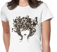 face of a beautiful girl Womens Fitted T-Shirt