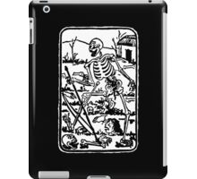 The Death - Old Indian / Asian Tarot Card - black/white iPad Case/Skin
