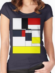 Mondrian Tardis Women's Fitted Scoop T-Shirt
