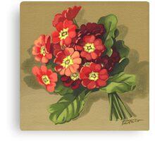 Primrose - acrylic painting on canvas Canvas Print