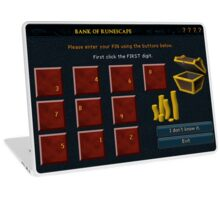 Runescape bank pin Laptop Skin