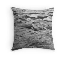 Black Water Painting Throw Pillow