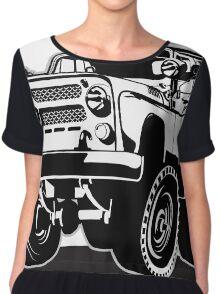 Cartoon jeep Chiffon Top