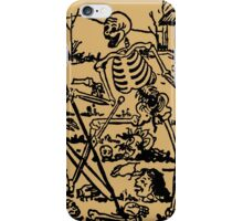 The Death - Old Indian Asian Tarot Card - natural iPhone Case/Skin