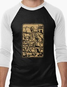 The Death - Old Indian Asian Tarot Card - natural Men's Baseball ¾ T-Shirt