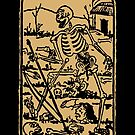 The Death - Old Indian Asian Tarot Card - natural by Bela-Manson