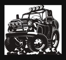 Cartoon jeep Kids Tee