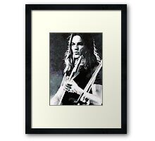 David Gilmour Framed Print