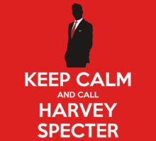Keep Calm and Call Harvey Specter (white) by Crypto