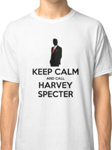 Keep Calm and Call Harvey Specter (Black) Classic T-Shirt