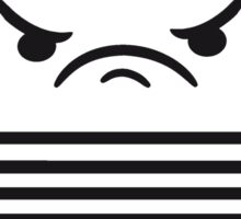 angry middle finger wichser comic cartoon face furious show insult finger computer laptop notebook pc write screen mobile tablet Sticker