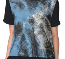 swaying tops of bare trees  Chiffon Top