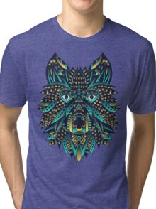 Abstract Wolf Tri-blend T-Shirt