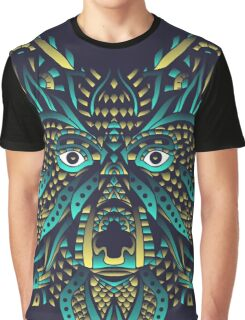 Abstract Wolf Graphic T-Shirt